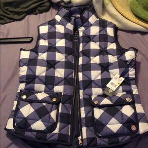 Checkered blue vest